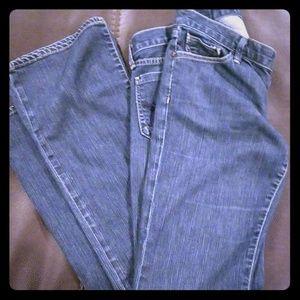 Gold Sign blue jeans